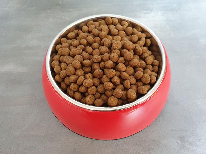 Yarrah Grain Free in roten Hundenapf
