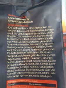 Inhaltsstoffe der Sorte Hochmoor